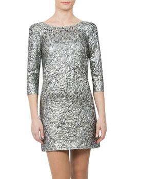 Rochie argintie cu spatele gol