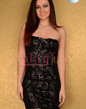 Rochie neagra cu spate gol