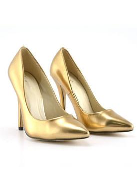 Pantofi cu toc inalt pentru Revelion Cony aurii
