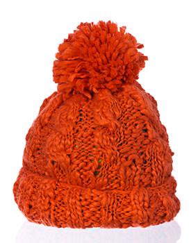 Caciula cu torsade portocalie