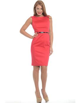 Rochie rosie din bumbac