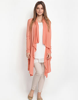 Cardigan lung orange