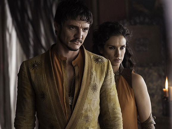 Pedro Pascal as Oberyn as Martell and Indira Varma as Ellaria Sand