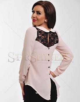 Bluze subtiri pentru femei Bluza Fofy Fine Veil Rosa