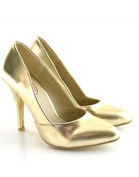 Pantofi Afro aurii