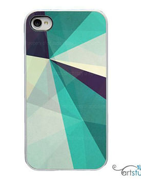 Teal geometric case