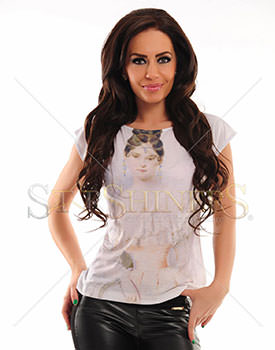 Tricou Stylish Girl alb