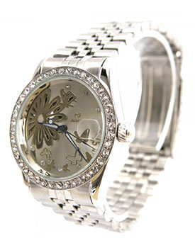 Ceasuri de dama cu cristale Goer Silver Butterfly