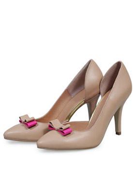 Pantofi nude din piele naturala