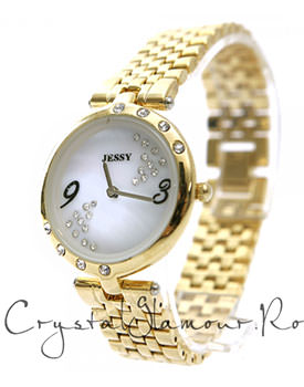 Ceas dama Jessy Luxury Chic Gold