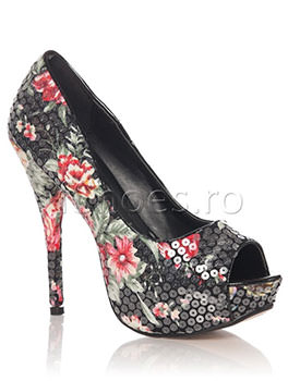 Pantofi Floris negri