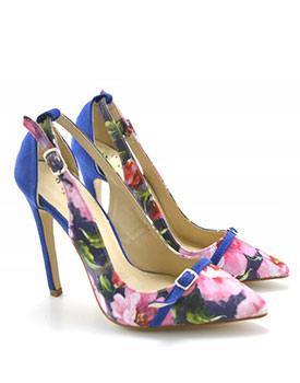 Pantofi Flower albastri