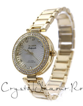 Ceas dama Glamour Ladymatic Gold