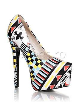 Pantofi Geometric