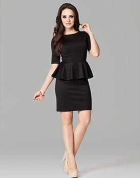 Rochie cu peplum neagra