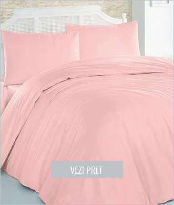 Set de pat roz pal Leunelle