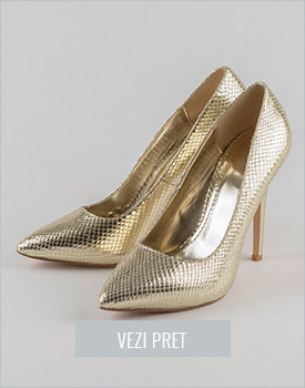 Pantofi aurii Naranjo