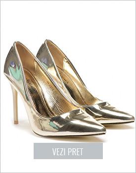 Pantofi Fego aurii