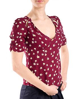 Bluza cu flori grena
