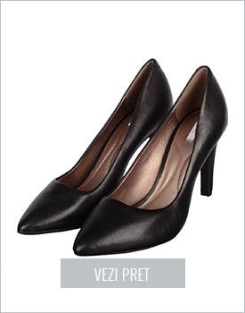 Pantofi Geox negri piele naturala