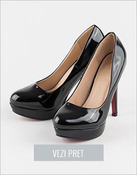 Pantofi cu toc negri Amala