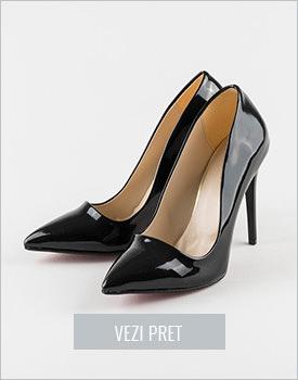Pantofi negri cu lac Cersei