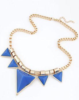 Colier Blue Triangle