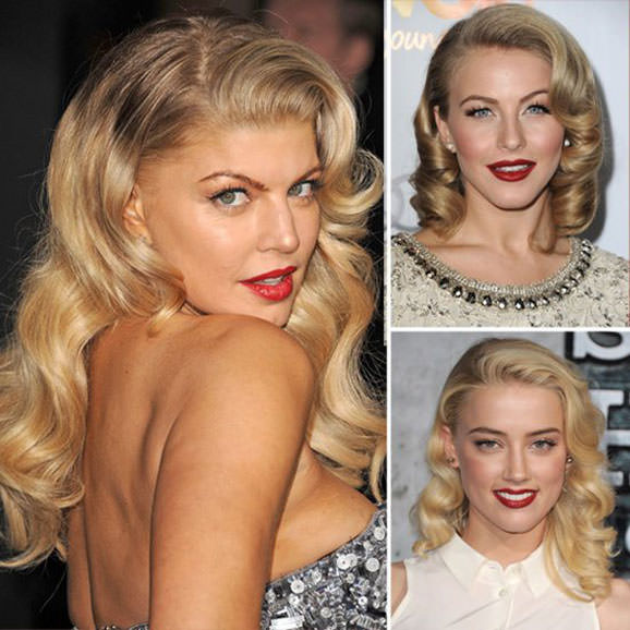 Retro blonde waves