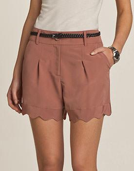 Pantaloni scurti cu pense pentru femei