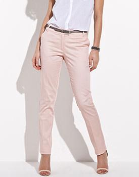Pantaloni din satin bumbac