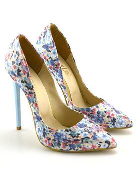 Pantofi Imprimo albastri
