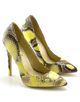Pantofi Pandora galbeni-maro