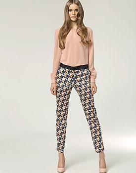 Pantaloni lungi de vara pentru femei conici cu buzunare