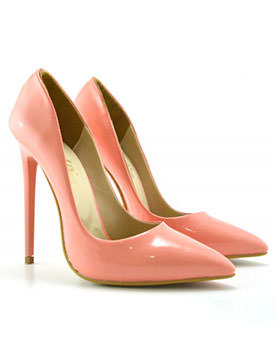 Pantofi colorati cu toc inalt Pantofi Libano corai
