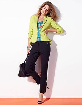 Pantaloni lungi de vara pentru femei drepti Votre Mode