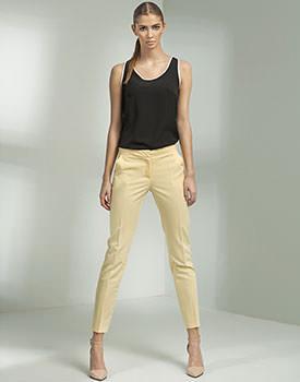 Pantaloni conici galbeni
