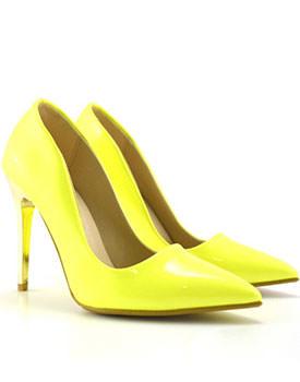 Pantofi Vese galben neon
