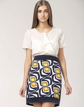 Fusta dama yellow pattern