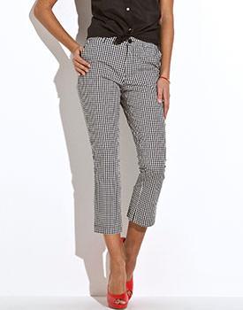 Pantaloni 3/4 in carouri Vichy