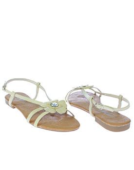 Sandale plate de culoare bej