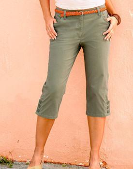 Pantaloni stretch capri