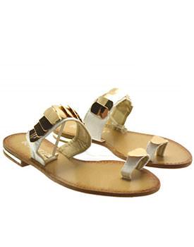 Papuci Lory albi