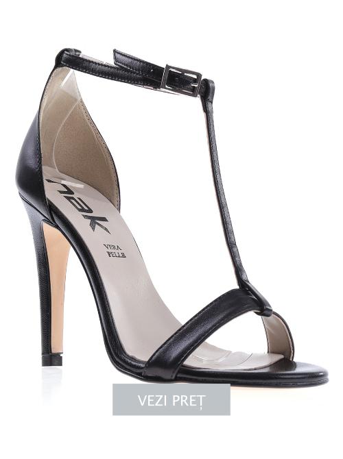 Sandale dama piele Tammy negre