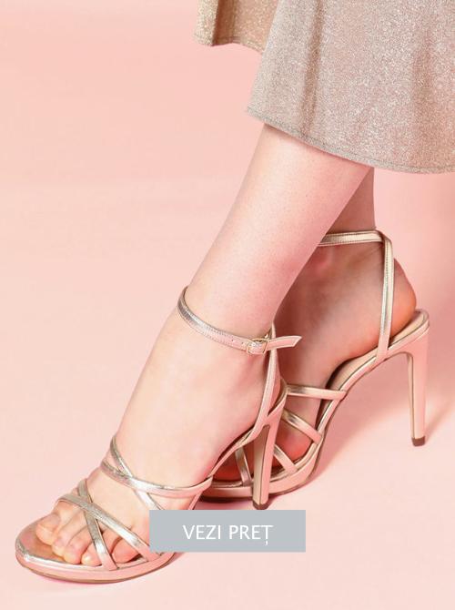 Sandale cu barete multiple Motivi