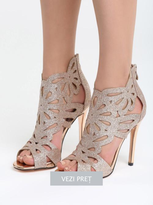 Sandale cu toc Powder