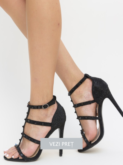 Sandale elegante de seara Balaf negre