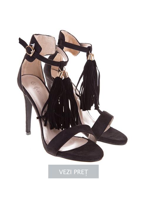 Sandale elegante cu franjuri Giulia