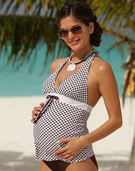 Costume de baie pentru gravide tankini maro