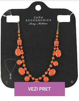 Colier Zara Chloe Orange