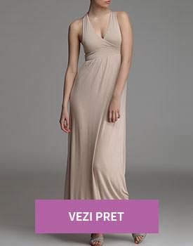 Rochie lunga beige